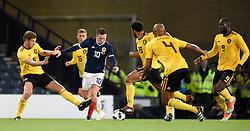 Scotland's Callum McGregor (centre) in action during the International Friendly at Hampden Park, Glasgow.