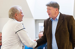 Srecko Medven and Drago Bahun during meeting of Executive Committee of Ski Association of Slovenia (SZS) on March 10, 2014 in SZS, Ljubljana, Slovenia. Photo by Vid Ponikvar / Sportida