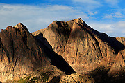Dappled light plays on the northern face of North Eolus  14,039ft.