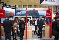 DEU, Deutschland, Germany, Berlin, 07.03.2019: Internationale Tourismus-Börse (ITB) auf dem Berliner Messegelände. Der Stand von Großbritannien, Great Britain, United Kingdom (UK).
