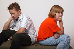 Unhappy boy and girl,