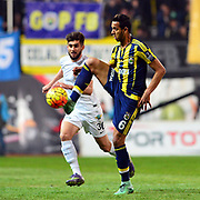 Fenerbahce's Josef de Souza (R) during their Turkish Super League soccer match Akhisar Belediye Genclik Spor between Fenerbahce at the 19 Mayis Stadium in Manisa Turkey on Sunday, 06 March 2016. Photo by TURKPIX