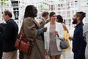 DAVID OKUMU; ROSIE LOWE; DANIEL TUFFIN, The Serpentine Summer Party 2013 hosted by Julia Peyton-Jones and L'Wren Scott.  Pavion designed by Japanese architect Sou Fujimoto. Serpentine Gallery. 26 June 2013. ,