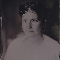 Tintype wetplate collodion plate made at Vine Street, Brighton. Saffron Allwood.