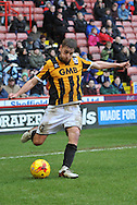 Sam Foley of Port Vale  crosses the ball  during the Sky Bet League 1 match between Sheffield Utd and Port Vale at Bramall Lane, Sheffield, England on 20 February 2016. Photo by Ian Lyall.