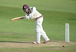 Somerset's Tom Abell hits a four. - Mandatory byline: Alex James/JMP - 07966386802 - 09/09/2015 - FOOTBALL -  - The County Ground - Taunton  - Somerset v Hampshire - LV CC -