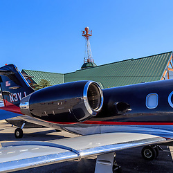Lancaster, PA, USA - August 22, 2015: A jet  at the Community Days at the Lancaster Airport.