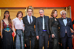 """Audrey Dana, a guest, Jean Dujardin, Christophe Lambert, Elsa Zilberstein, Gerard Darmon attend the screening of """"Les Plus Belles Annees D'Une Vie"""" during the 72nd annual Cannes Film Festival on May 18, 2019 in Cannes, France. Photo by Shootpix/ABACAPRESS.COM"""