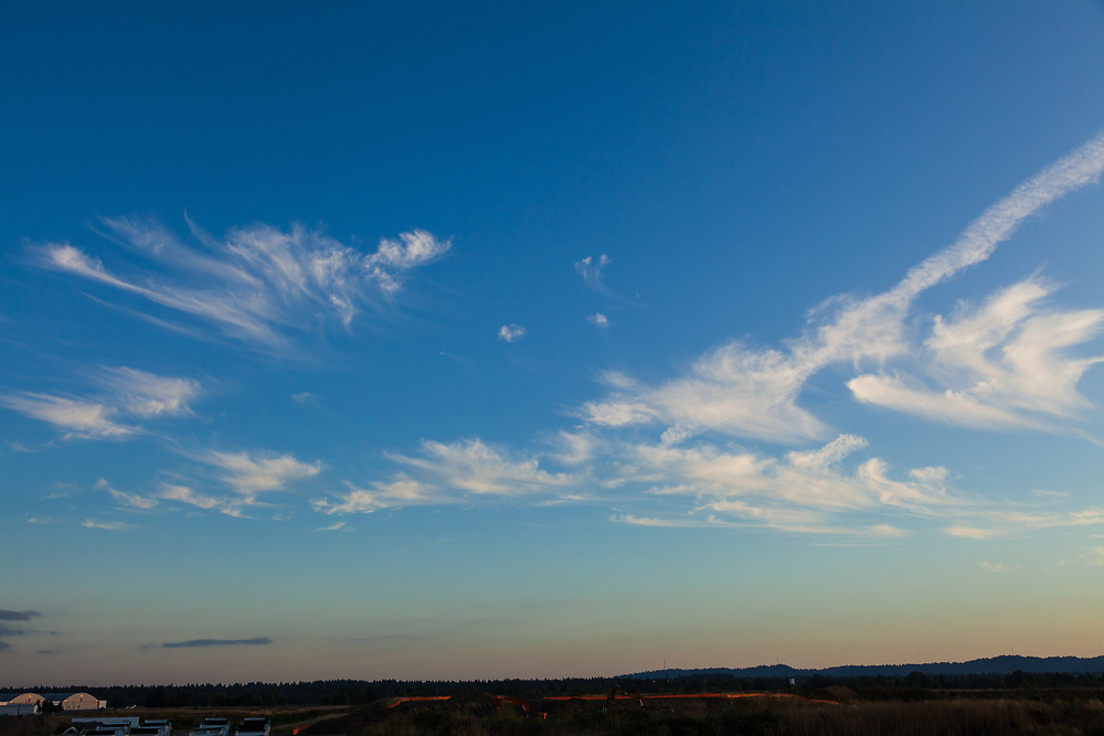 Beautiful cloud formations at golden hour.