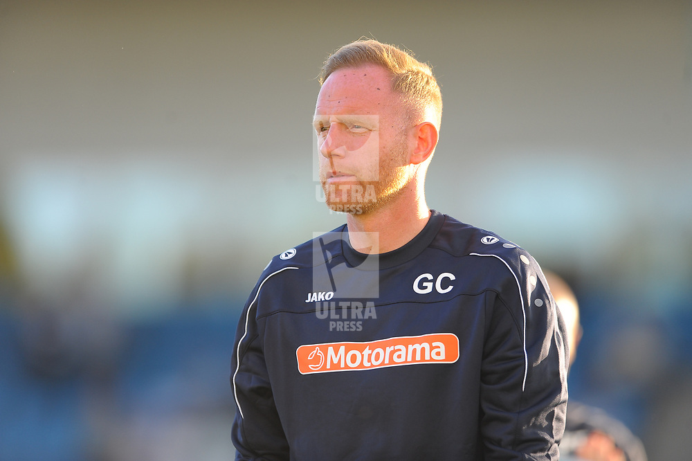 TELFORD COPYRIGHT MIKE SHERIDAN Gavin Cowan during the National League North fixture between AFC Telford United and Kidderminster Harriers on Tuesday, August 6, 2019.<br /> <br /> Picture credit: Mike Sheridan<br /> <br /> MS201920-006