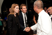 PRINCESS BEATRICE; DAVE CLARK; ; NOBU MATSUHISA; The Tomodachi ( Friends) Charity Dinner hosted by Chef Nobu Matsuhisa in aid of the Unicef  Japanese Tsunami Appeal. Nobu Berkeley St. London. 5 May 2011. <br /> <br />  , -DO NOT ARCHIVE-© Copyright Photograph by Dafydd Jones. 248 Clapham Rd. London SW9 0PZ. Tel 0207 820 0771. www.dafjones.com.