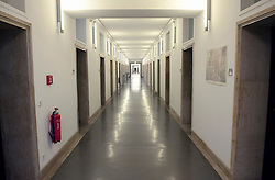 Interior corridor of historic Finance Ministry or Bundesministerium der Finanzen in Mitte Berlin Germany