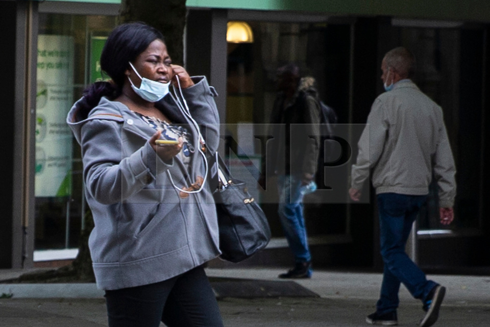 © Licensed to London News Pictures. 15/09/2020. Bolton, UK. Shoppers in Bolton this morning. Bolton has the highest infection rate in the country. Photo credit: Kerry Elsworth/LNP