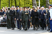 Nationale Militaire Dodenherdenking op de Grebbeberg<br /> <br /> Op de foto: Prinses Margriet , Pieter van Vollenhoven en prins Pieter Christiaan
