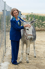 Queen of Spain, Sofia, visits Friends of Animals