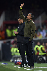 March 23, 2019 - Valencia, Valencia, Spain - Luis Enrique of Spain gives instructions during the 2020 UEFA European Championships group F qualifying match between Spain and Norway at Estadi de Mestalla on March 23, 2019 in Valencia, Spain. (Credit Image: © Jose Breton/NurPhoto via ZUMA Press)