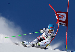 14.12.2013, Engiadina, St. Moritz, SUI, FIS Weltcup Ski Alpin, St. Moritz, Riesentorlauf, Damen, 1. Durchgang, im Bild Elisabeth Goergel (AUT) // in action during the 1st run of ladies Giant Slalom of the St. Moritz FIS Ski Alpin World Cup at the Engiadina in St. Moritz, Switzerland on 2013/12/14. EXPA Pictures © 2013, PhotoCredit: EXPA/ Freshfocus/ Christian Pfander<br /> <br /> *****ATTENTION - for AUT, SLO, CRO, SRB, BIH, MAZ only*****