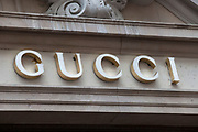 Sign for high end fashion and exclusive brand Gucci.