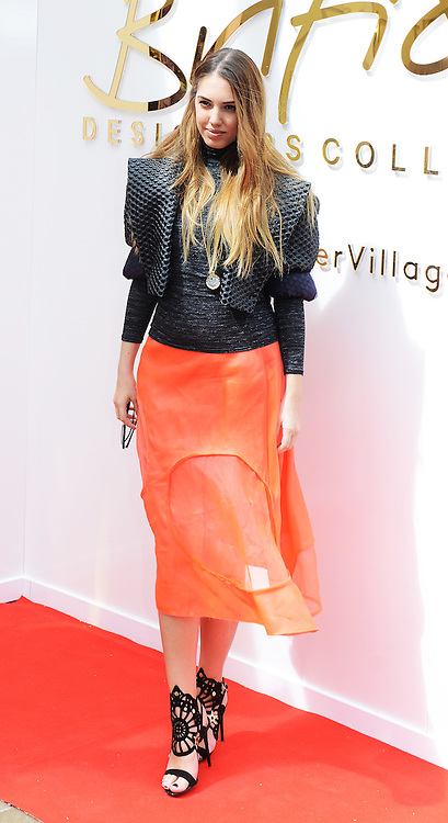 © London News Pictures. 20/05/2015. Amber Le Bon.<br /> Britsh Designers Collective. Celebrities  launch 6-week pop up shop at Bicester Village. Celebrities launching the 6-week event called the British Designers Collective in which a pop-up shop has been installed to sell one of pieces from up and coming designers. Photo credit: Richard Cave/LNP