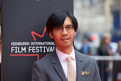 "Baldwin Li, on the red carpet at the Edinburgh International Film Festival world Premier of ""England is Mine"" at Edinburgh's Festival Theatre. Sunday, 2nd July, 2017(c) Brian Anderson | Edinburgh Elite media"