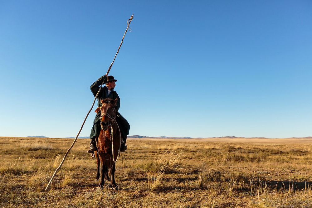 Baak Tulge has always led a nomadic life, moving his home several times each year, taking his family and livestock with him.