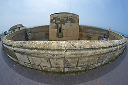 Martello Tower no.74 Seaford, east Sussex UK.<br /> Built during the Napoleonic wars, and housing a 32 pounder canon, now a museum.
