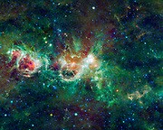 This enormous section of the Milky Way galaxy is a mosaic of images from NASA's WISE. The constellations Cassiopeia and Cepheus are featured.