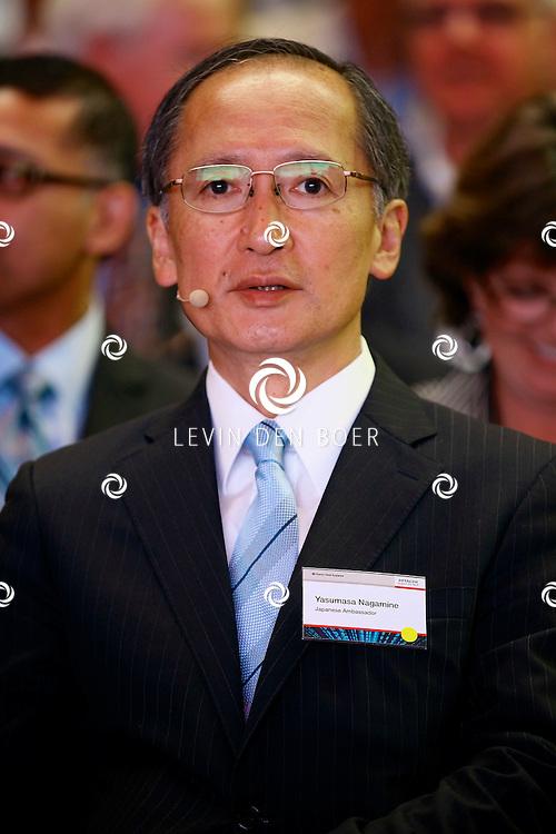 ZALTBOMMEL - De 'Grand Opening EDC Zaltbommel' in het Hitachi Centre. Met op de foto Yasumasa Nagamine (Japanese Ambassador). FOTO LEVIN DEN BOER - PERSFOTO.NU
