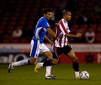 Photo: Jed Wee.<br /> Sheffield United v Birmingham City. Carling Cup. 24/10/2006.<br /> <br /> Sheffield United's Danny Webber (R).