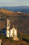vineyards church , cidadelhe, mesao frio douro portugal