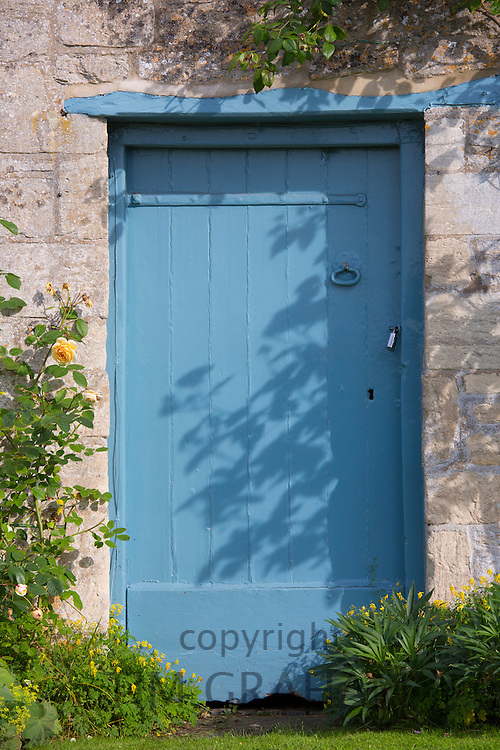 Traditional Cotswold doorway in The Cotswolds, Gloucestershire, UK