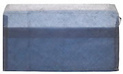 rectangular wrinkled blue security envelope empty