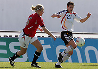 20080312: VILA REAL SANTO ANTONIO, PORTUGAL – Germany vs Norway during XV Algarve Women 's Football Cup, for 3rd / 4th places. In picture: Isabel Bachor (Germany) and Gunhild Folstad (Norway). PHOTO: CITYFILES