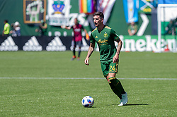May 13, 2018 - Portland, OR, U.S. - PORTLAND, OR - MAY 13: Portland Timbers defender Liam Ridgewell during the Portland Timbers 1-0 victory over the Seattle Sounders on May 13, 2018, at Providence Park in Portland, OR. (Photo by Diego Diaz/Icon Sportswire) (Credit Image: © Diego Diaz/Icon SMI via ZUMA Press)