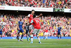 Gabriel Martnelli of Arsenal celebrates scoring only for the goal to be disallowed for offside - Mandatory by-line: Arron Gent/JMP - 28/07/2019 - FOOTBALL - Emirates Stadium - London, England - Arsenal v Olympique Lyonnais - Emirates Cup
