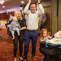 Ian Lynch with his family at the announcement of his election