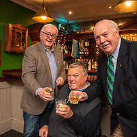 REPRO FREE<br /> Paul Shea, Newport Twinning Committee; John Twomey, Kinsale Twinning Committee and Rick O'Neill, Newport Twinning Committee pictured at the official unveiling of a new Whiskey Cabinet in The Fifth Ward Bar at The White House Kinsale to commemorate the 20th anniversary of the Twinning of Kinsale and Newport, Rhode Island. <br /> Picture. John Allen<br /> <br /> <br /> TEXT OF SPEECH BY MICHAEL FRAWLEY JR<br /> Distinguished guests, members of Cork County & Bandon/Kinsale Municipal District Council & Members of Dáil & Seanad Éireann. Locals, visitors, friends and family<br /> This is our New Whiskey Cabinet in The Fifth Ward Bar at The White House Kinsale. It is to commemorate the 20th anniversary of the Twinning of Kinsale and Newport RI. <br /> <br /> I would like to start by welcoming you all and thanking you for braving the elements and making the trip in, although some of you didn't have to travel to far, which may be a good thing after the weekend you have just had.<br /> <br /> As you all know this weekend was our 43rd Gourmet festival which now coincides the Kinsale Newport Restaurant exchange, which in the absence of a town council has now become the Official Visit for our friends of old and the ones we have yet to meet  from Newport who are officially represented today by Rick O'Neill <br /> <br /> I am sure the big 20th anniversary will be commemorated officially at a later date, or in 2020 to mark the coming of age 21st Birthday. On that note I would like to thank the Municipal district council for hosting the dinner on Friday evening, it was a thoroughly enjoyable, While I am at it I would also like to thank Comans Beverages, Findlaters and Cassidys Wines for supplying refreshments for that evening. <br /> <br /> Since this is where it all began and the seeds were sown 22 years ago we thought it fitting that we should mark the 20th anniversary of the signing in some way and what better way than Whiskey, I happen to know that our friends a
