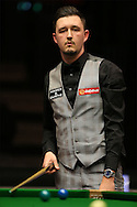Kyren Wilson (Eng) looking on. Ding Junhui (Chn) v Kyren Wilson (Eng),  1st round match at the Dafabet Masters Snooker 2017, day 1 at Alexandra Palace in London on Sunday 15th January 2017.<br /> pic by John Patrick Fletcher, Andrew Orchard sports photography.