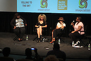 25 August New York, NY- l to r: Actress Gabourey Sidibe, Victoria Mahoney, Director, Actress Zoe Kravitz, and Moikgansti Kgama, Founder, Imagenation Cinema Foundation at the Imagenation Cinema Foundation Screening of '  Yelling to the Sky ' presented by the Imagenation Cinema Foundation and The Film Society of Lincoln Center held at the Walter Reade Theater at Lincoln Center on August 25, 2011 in New York, NY. Photo Credit: Terrence Jennings