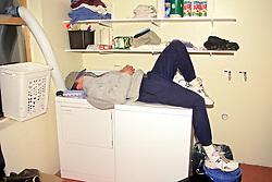 Sleeping On Dryer