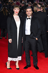 Oscar Isaac and guest attending the european premiere of Star Wars: The Last Jedi held at The Royal Albert Hall, London. Photo credit should read: Doug Peters/EMPICS Entertainment