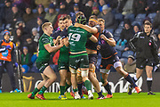 A fight breaks out between the players during the Guinness Pro 14 2019_20 match between Edinburgh Rugby and Connacht Rugby at BT Murrayfield Stadium, Edinburgh, Scotland on 21 February 2020.