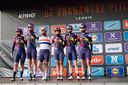CANYON//SRAM Racing on stage at the 2020 Brabantse Pijl - Elite Women, a 121 km road race from Lennik to Overijse, Belgium on October 7, 2020. Photo by Sean Robinson/velofocus.com