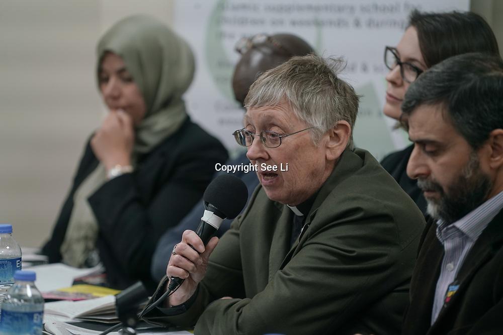 London, Uk. 15th October 2017. Rev. Jennifer Potter – Chair, Islington Faiths Forum join the discussion Hate Crime Against Muslim Women.