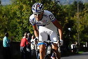 France, October 10 2010: FDJ (FDJ)'s Jérémy ROY on the Côte de l'Epan during the 2010 Paris Tours cycle race.  Copyright 2010 Peter Horrell
