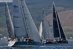 Lights winds dominated the Pelle P Kip Regatta  at Kip Marine weekend of 12/13th May 2018<br /> <br /> GBR7737R, Aurora, Rod Stuart, A Ram, CCC, Corby 37<br /> <br /> Images: Marc Turner