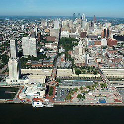 Aerial view of independence Seaport Museum, at Penns Landing,  Philadelphia, Pennsylvania