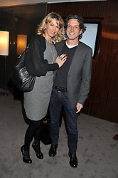 STEPHEN & ASSIA WEBSTER at a party to celebrate the publication of The Impossible Collection of Jewelry by Vivienne Becker hosted by Assouline and Bulgari at the Bulgari Hotel, 171 Knightsbridge, London on 17th January 2013.