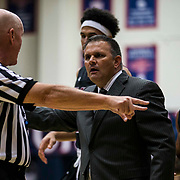 Nov 13 2017  Moraga CA, U.S.A. New Mexico State head coach Chris Jans arguing with the referee over a bad call during NCAA Men's Basketball game between New Mexico State Aggies and Saint Mary's Gaels 74-92 lost at McKeon Pavilion Moraga Calif. Thurman James / CSM