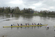 Putney, London, Oxford Isis, after their defeat by Cambridge Goldie,  156th University Boat Race, River Thames, between Putney and Chiswick, on the Championship Course.  Saturday  03/04/2010 [Mandatory Credit Karon Phillips/Intersport Images]